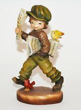 "Anri Ferrandiz Le 28/1500 ""Extra Extra"" Newspaper Boy 7"" Woodcarving Figurine"