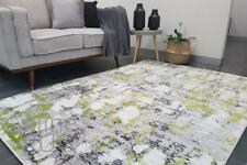 GREY YELLOW GREEN FLOOR RUG ABSTRACT PATTERN CARPET EXTRA LARGE 200 x 290 CM