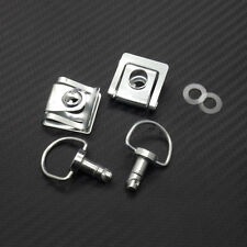 Silver Quick Release D-ring Turn Race Fairing Fastener For KTM Ducati Motorcycle