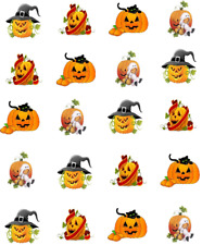 Halloween Cute Pumpkins/ Jack-O-Lanterns  Waterslide Nail Decals/Nail art