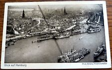 Ak mapa dirigible zeppelin Sajonia mirada a hamburgo (8