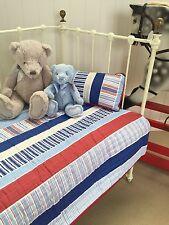 Linens n Things Boys Eddie Stripe 2 pce Baby Nursery Cot Crib Quilt Cushion set