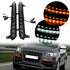 Paar LED DRL Tagfahrlicht Flackern Blinker Nebel Lampe für Audi Q7 2005-2009