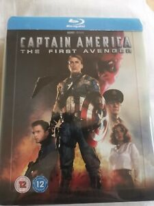 Captain America The First Avenger Zavvi  UK BLU-RAY STEELBOOK  ships worldwide