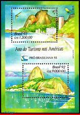 2397 BRAZIL 1992 TOURISM YEAR IN THE AMERICAS, BRASILIANA 93, MI# B91, MNH