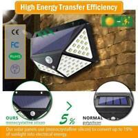 100LED Solar Power Light PIR Motion Sensor Garden Security Wall Lamp Light I6R9