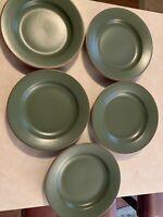 Set of 5 WSP Casa Verde Terracotta Green Salad Plates Terra Cotta Excellent