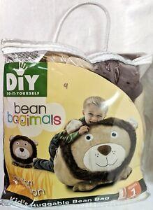 Comfort Research Bean Bagimal Fillable Leo Lion Bean Bag Chair Child Size NIP