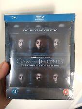 Game of Thrones - Season 6 (Blu Ray) + EXCLUSIVE BONUS DISC - New & Sealed - UK
