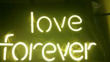 "14""x10""Love Forever Neon Sign Light Bistro Bar Pub Wall Hanging Nightlight Decor"