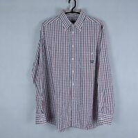 PAUL SHARK YACHTING Mens Check Long Sleeve Cotton Collared Shirt SIZE 2XL, 17/43