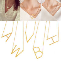 Initial 26 A-Z Letter Name Alphabet Pendant Necklace Chain For Women Jewelry
