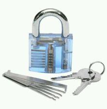 Profi Mini 5 tlg. pickset + Übungsschloss  Lockpick Set lock Dietrich knacken