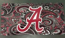 Alabama Crimson Tide License Plate Metal Paisley A Tag Roll Tide