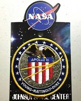 NASA APOLLO 16 MISSION PATCH Official Authentic SPACE 4in USA