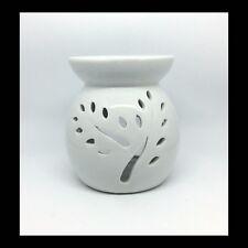 Classic White Ceramic Oil Burner with tree cut Design - GeriBeri Scented Candles