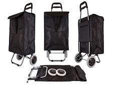 WF Imports Folding Wheeled Shopping Cart ST-SQ-B-10 Black.