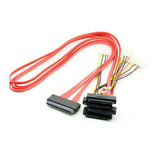 SAS SFF-8482 to SFF-8484 32Pin host TO SATA 29 pin HDD 60cm red cable