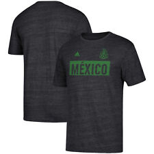 adidas Mexico World Cup Wc 2018 Soccer Linear Heathered Fan Shirt Gray