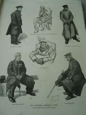 The Invalides A few types vieil warrant officer Member Strategist Engraving 1886