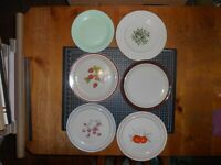 Vintage Lot Of 6 Miscellaneous Dinner & Salad Plates With Classic Designs