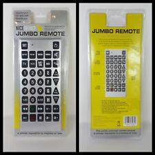 Jumbo Universal Remote Control TV VCR DVD Satellite & Cable New Sealed