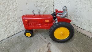 Massey Harris 44 Tractor with driver 1/16th Vintage by Slik Toy MFG