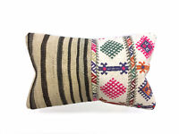 Vintage Turkish Kilim Cushion Cover Kelim Pillow 50x30 cm Moroccan style