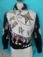 Ladies Sequin Multi Color MODI DENUM Jacket Bull's eye, stars, arrow head SM 6/8