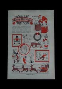 Christmas Lawn Cut Outs 1940 PLANS Patterns Santa Sleigh Reindeer +++