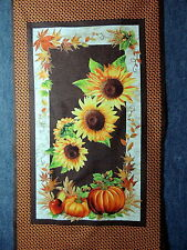 "Sunflower Pumpkin & Apple Harvest Quilting Fabric 23 1/2"" Panel  #682"