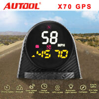 Autool X70 Smart GPS Car Head Up Display Speedometer Overspeed Alarm Monitor