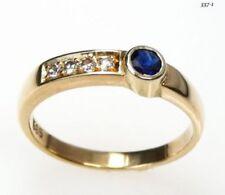 Ringe mit Edelsteinen aus Gelbgold echten (51-100 Diamant 16,2 mm Ø)
