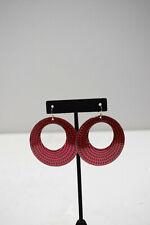 Earrings Red Brass Round Earrings