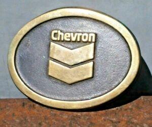 Vintage Solid BRASS CHEVRON Gas Men's BELT BUCKLE
