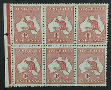 Momen: Australia Sg #Sb1 Booklet Pane Kangaroo 1913 Mint Og Nh Lot #1570