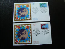 FRANCE (timbre service) - 2 enveloppes 1er jour 23/11/1991 (cy6) french