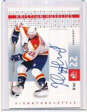 2000/01 UD SP GAME USED KRISTIAN HUSELIUS AUTOGRAPH SS/KH
