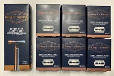 King C. Gillette Double Edge Razor and Blades - Pack of 15