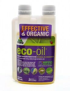 Eco Oil Hippo 250ml Organic Insecticide Miticide Safe to Spray & Eat Same Day