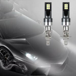 2Pcs H1 14000LM LED Headlight Bulbs Kit Fog Driving Light 6500K Super White
