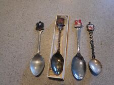 Lot Of 4 British Collector Spoons Wales, Liverpool, Southend On Sea, Firenza