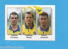 CALCIO FLASH '95-EUROFLASH-Figurina n.344- GIORDANO+MELOSI+ANTONIOLI -CHIEVO-NEW