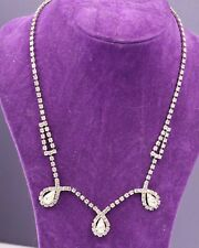 Vintage 1940s Clear Rhinestone Necklace