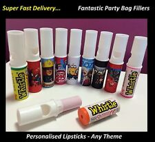 20 x Personalised Candy Lipstick Sweets Birthday Party Bag Filler Swizzel a