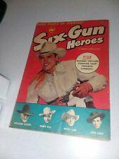 Six-Gun Heroes #20 fawcett comics 1953 golden age western hopalong cassidy photo