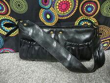 Victoria's Secret Lightweight Black Soft Leather Look Shoulder Bag w/Wide Strap