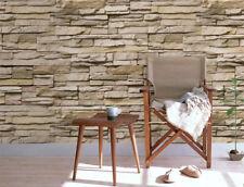 Retro Faux Brick Wallpaper 3D Stone Contact Paper Home Wall Sticker Decor Paper