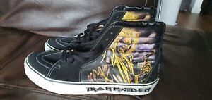 IRON MAIDEN SK8-Hi KILLERS Rare  Heavy Metal US SIZE 9