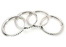New Set of 4 Polished Stainless Steel Trim Rings 1968-1980 MGB w Rostyle Wheels
